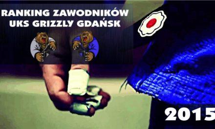 Ranking zawodników UKS Grizzly Gdańsk w roku 2015