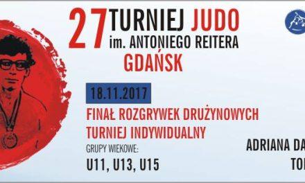 [Zawody] XXVII Turniej Judo im. Antoniego Reitera [Gdańsk, 18.11.2017]