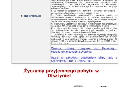 Komunikat organiz. Międzynarodowe Mistrzostwa Olsztyna 2018 - młodzicy i dzieci - XI Memoriał-1-4