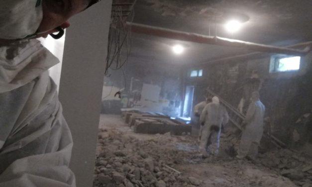 Klip ukazujący prace budowlano-remontowe naszej sali judo w SP81