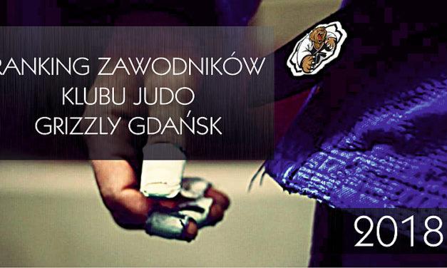 Ranking zawodników KJ Grizzly Gdańsk 2018