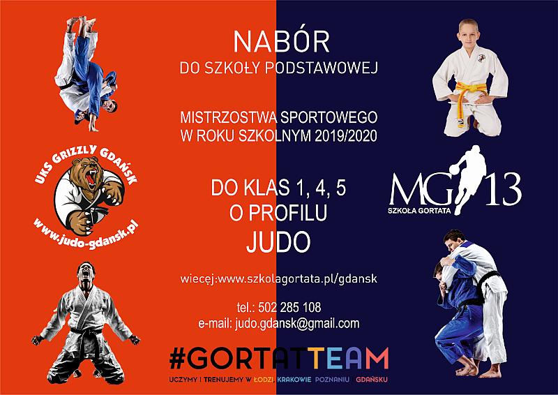 Nabór do klas 1,4 i 5 o profilu judo Szkoły Mistrzostwa Sportowego Marcina Gortata