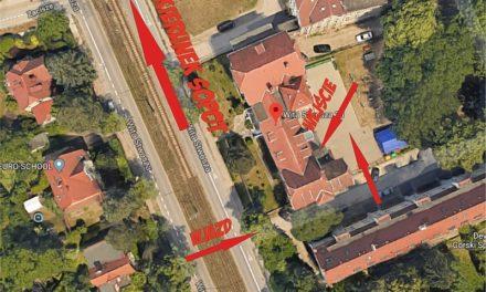 Opis dojazdu do filii klubu w ZSS nr 2 przy ul. Wita Stwosza 23