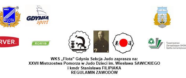 [Zawody] XXVII Mistrzostwa Pomorza w Judo Dzieci im. Wiesława SAWICKIEGO i kmdr Stanisława FILIPIAKA [09.11.2019]
