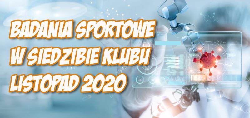 Badania sportowe [listopad 2020]