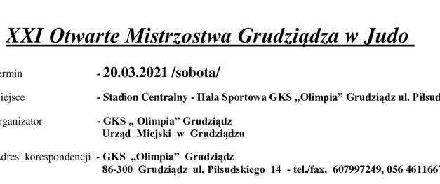 [Zawody] XXI Otwarte Mistrzostwa Grudziądza w Judo [20.03.2021]