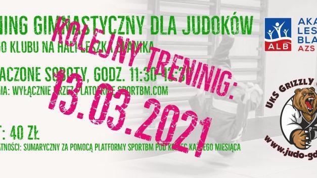 Trening gimnastyczny dla judoków [sobota, 13.03.2021]