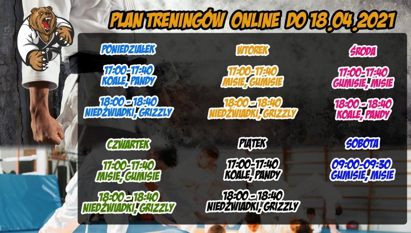 Plan treningów online do 18.04.2021