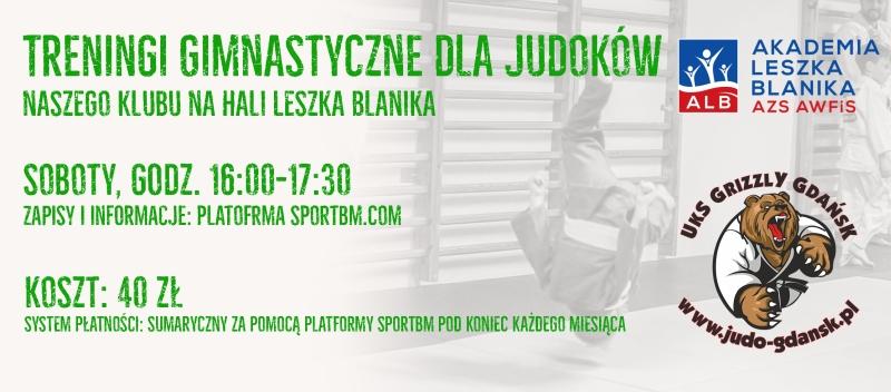 Treningi gimnastyczne dla judoków na Hali Leszka Blanika